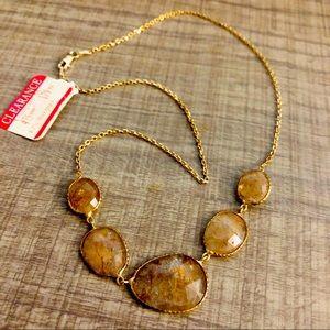 5 stones necklace